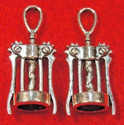 50Pcs. WHOLESALE Tibetan Silver Wine Bottle Opener CORKSCREW Charms Drops Q0341