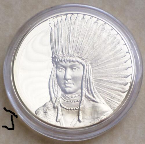 LARGE 24K Gold Bronze Art Medal Petalesharo, Skidi Pawnee Hero Charles Bird King