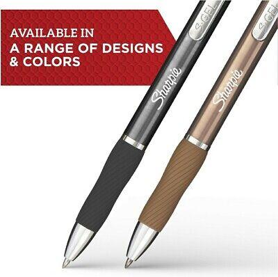 Sharpie S Gel Pen Metal Barrel Retractable Med 0.7 Blk Ink 2 Color Options