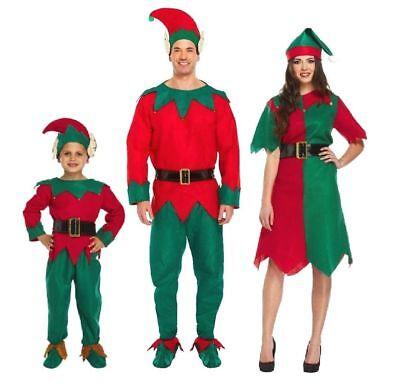 Elf Herren Damen Kinder Weihnachten Kostüm Elf Helfer Fasching Karneval Elfe  (Weihnachten Elf Kostüm Kinder)