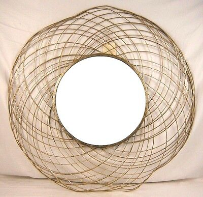 The Company Store Round Spiral Mirror Gold/Silver XU67 2907KCZ