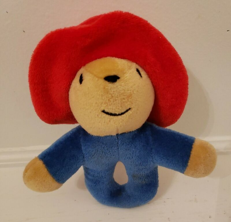 "Paddington Bear 6.5"" Ring Rattle Soft Plush Baby Toy - Suitable From Birth"