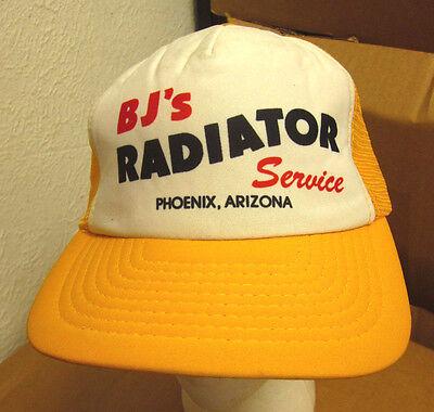 Bjs Radiator Service Trucker Cap Phoenix Hat Arizona Nylon Mesh 1980S Snapback