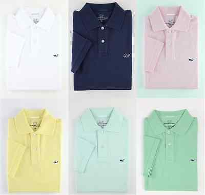 Nwt 2018 Vineyard Vines Mens Slim Fit Polo Shirt Whale Logo Xs S M L Xl Xxl