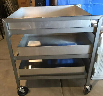 Commercial Rolling Cart Popcorn Cooling Rack 3 Drawers Stainless Steel