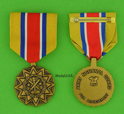 Army National Guard Reserve Component Achievement Medal - Full Size Made in USA Army Reserve Components National Guard