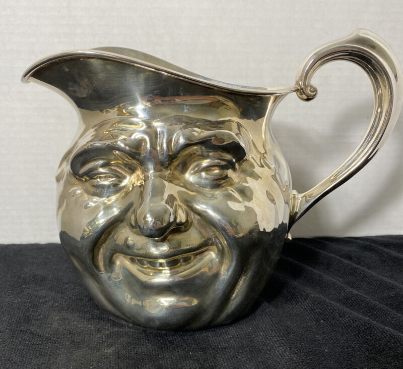 SUNNY JIM  WATER PITCHER REED  & BARTON 64 OUNCE SIVERPLATE DOUBLE FACED # 5640