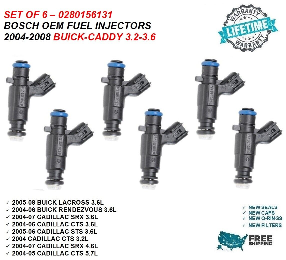 Fuel Injectors For  2004-2006 Cadillac CTS 3.6L 2005-2008 Buick LaCrosse 3.6L