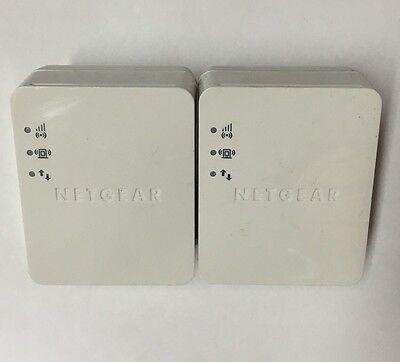 2 NetGear WN1000RP Wireless N150 Wi-Fi wall Plug Range Extender Booster amplifie