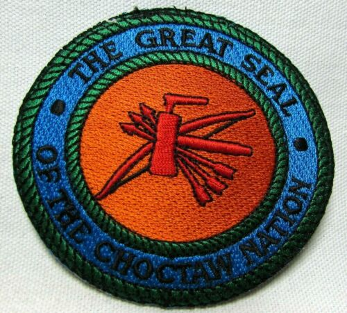 Great Seal of the Choctaw Nation Jacket Patch Badge Oklahoma Tribal Travel