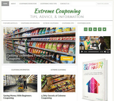 Extreme Couponing Blog Website Business For Sale W Auto Content Updates