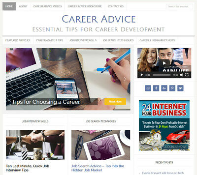 Career Job Advice Blog Website Business For Sale W Auto Content Updates