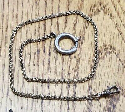 """VTG Antique Gold Filled Pocket Watch Chain 10.4g 14-1/4"""" ESTATE"""