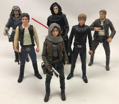 Star Wars Black Series 6 inch figure bundle of 6 figures With Weapons