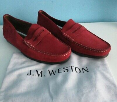 """Excellent suede J.M.Weston """"le moc"""" loafer Shoes in Size 7/ UK. RRP £500"""