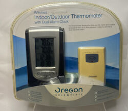 Oregon Scientific Wireless Indoor/Outdoor Thermometer w/Dual Alarm Clock READ