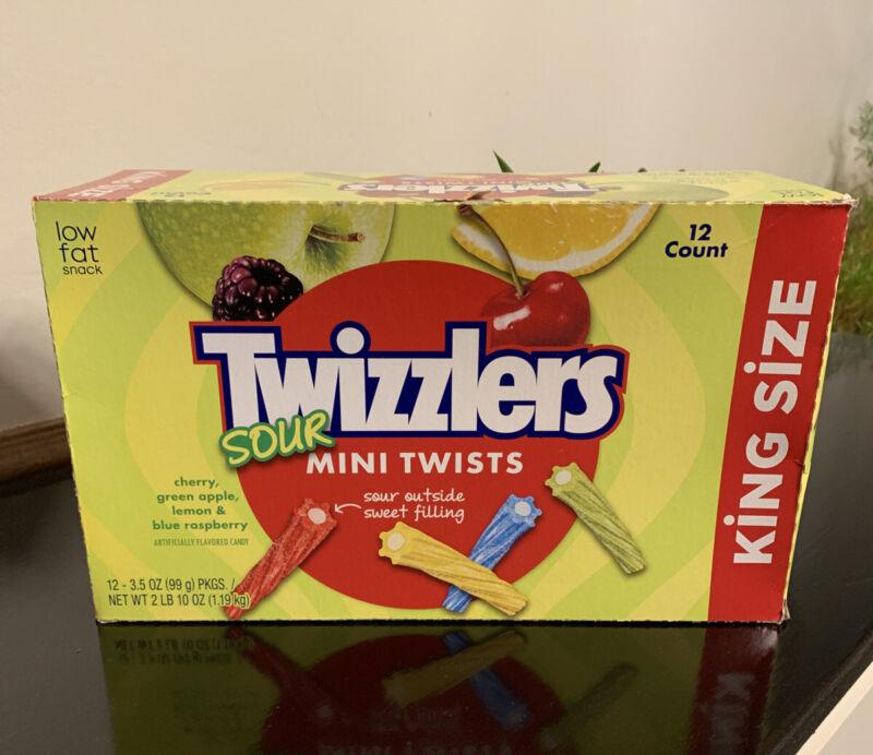 Twizzlers Sour Mini Twists King Size 12 Count Box