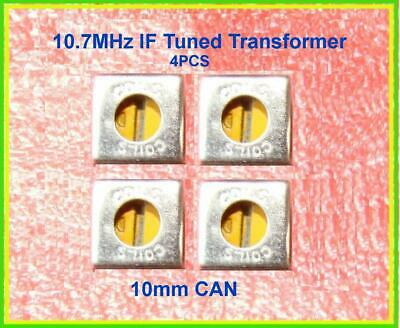 Radio If Tuned Transformer 10.7 Mhz Yellow Orange 10mm Can Rf Fm Inductor Coil
