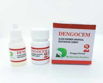 Dental Permanent Tooth White Filling Cement Mega Kit Self Cure Dengocem