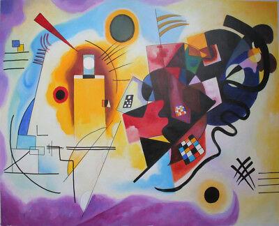 handgemalte Reproduktion d. Ölgemäldes von Kandinsky,Gelb-Rot-Blau, 80x100cm