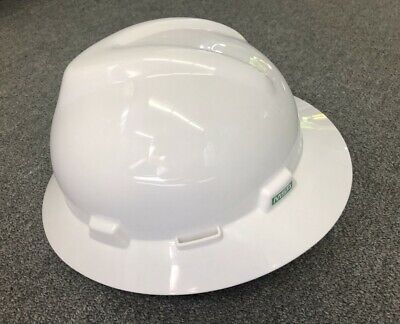 Msa Hard Hat Full Brim Style 475369 Adapter Hhaaw And Face Shield