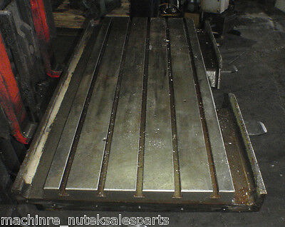51.5 X 21 X 2.5 Steel Welding T-slotted Table Cast Iron Layout Plate 5 Slots