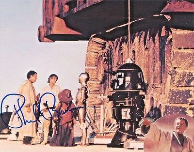 OFFICIAL WEBSITE Phil Brown STAR WARS IV 8x10 signed Photo AUTOGRAPHED