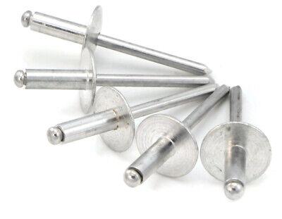 Aluminum Pop Rivets 316 Diameter 6 Oversize Large Flange Blind Rivets