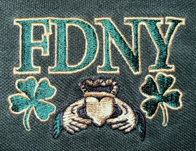 FDNY Fire Department New York T-Shirt XL Emerald Society IRE Irish St. Paddy's
