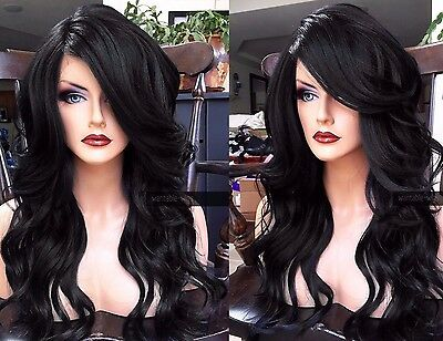 Black Baby Wig (USA: Heat OK Off Black BABY HAIR Wavy & Curly Lace Front Wig w/)