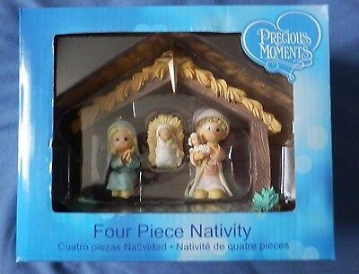 Precious Moments Nativity Four Piece NIB c2015