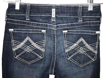 Ariat REAL Mid-Rise Boot Cut Sienna Nights Riding Jeans 10019537 28L Mid-rise Boot