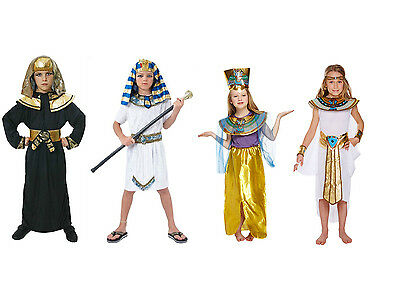 Egyptian Pharoah King Fancy Dress Book Week Costume Kids Party Child Outfit (Egyptian Costume)