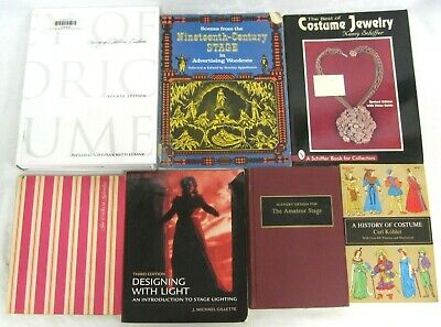 History of Costume Jewelry Stage Design Scenery Theater Lighting Lot of 7 Books - History Of Costumes