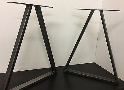 Set Of Industrial Steel Metal legs Dining Table /desk - Triangle Design