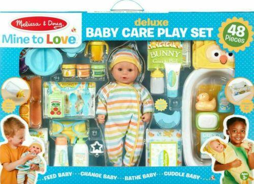 *NEW* Melissa & Doug-Mine to Love-Deluxe Baby Care Play Set (48 Pcs.)