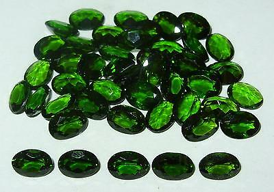 7x5mm Green Russian Chrome Diopside Oval Cut