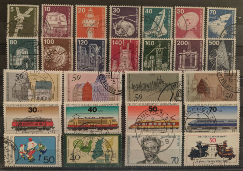 Germany 1975 Complete Year Set Used