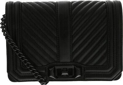 Rebecca Minkoff Love Chevron Quilt Small Leather Crossbody Chain Strap Handbag
