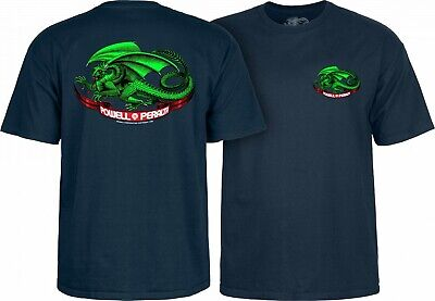 Powell Peralta Mens Oval Dragon Short Sleeve T-Shirt CTMPPDGN Dragon Mens T-shirt