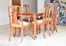 Antique Vintage Silky Oak Dining Table & 6 Chairs GREAT CONDITION Brisbane City Brisbane North West Preview