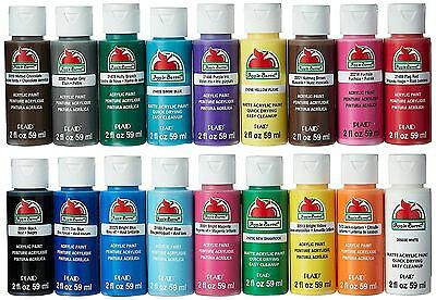 Acrylic Paint Set Art 18 Colors Painting Drawing Artist Supplies Color Mixing