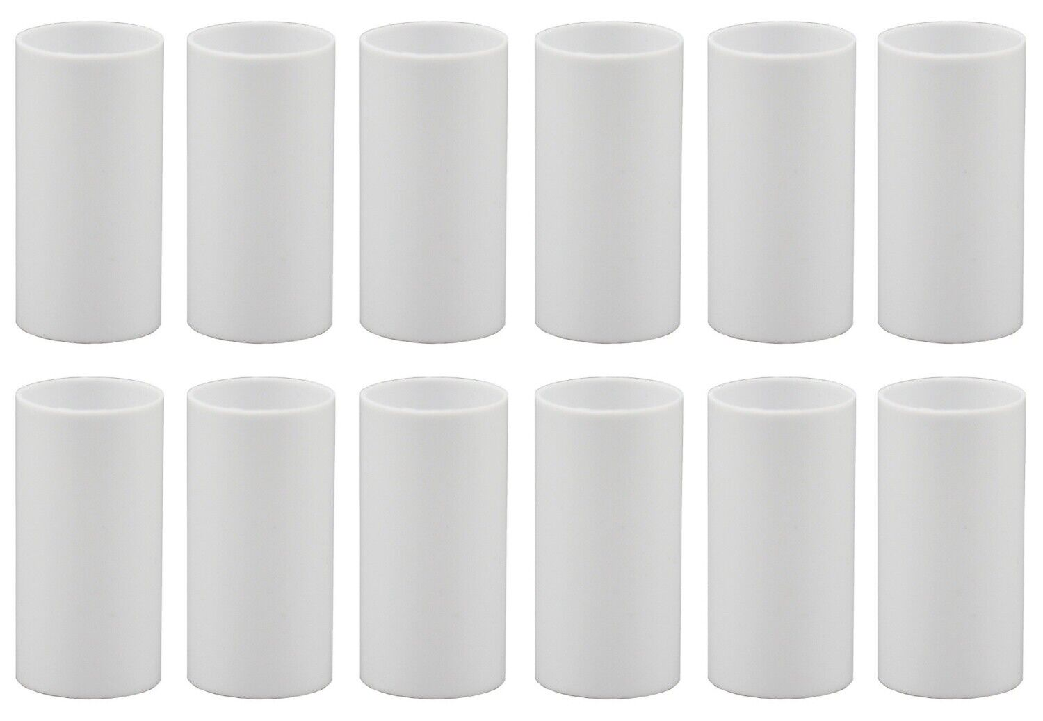 1 3/4 Inch White Plastic Candle Cover For Candelabra Base Lamp Sockets 12 Pieces Collectibles