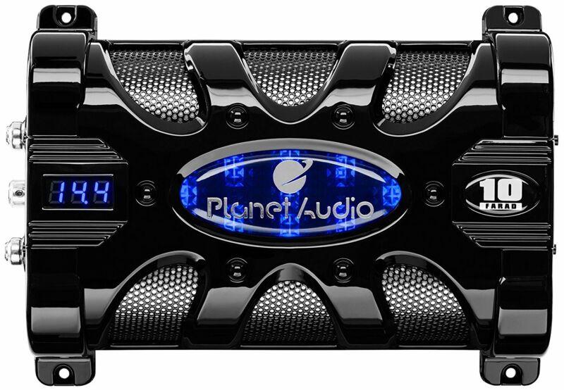 PLANET AUDIO PC10F Planet 10 Farad Capacitor with Digital Voltage Display Blu...