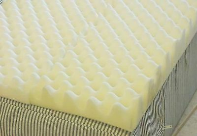 Foam Mattress Bed Pad - 4 inch Foam Twin Bed Pad Mattress Egg Crate Overlay Topper 72 L X 34 W X 4 Inch