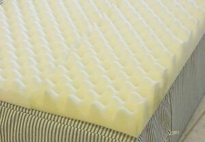 4 inch Foam Twin Bed Pad Mattress Egg Crate Overlay Topper 72 L X 34 W X 4 Inch