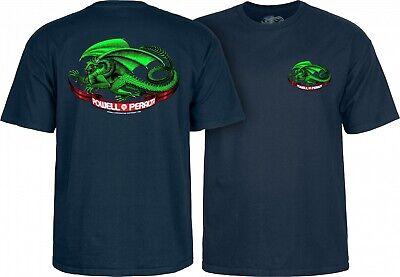a840bed20b Powell Peralta OVAL DRAGON Skateboard T Shirt NAVY XL