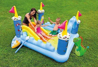 "Intex Fantasy Castle Inflatable Play Center, 73"" X 60"" X 42"""