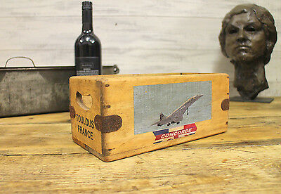 Concorde Vintage Box Great Gift Storage Crate Home Office Filton Bristol Toulous