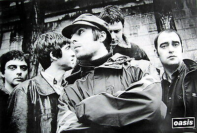 "OASIS ""BAND STANDING BEHIND LIAM GALLAGHER"" POSTER FROM ASIA-Rock, Britpop Music"